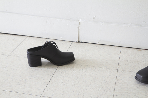 Intentionally Blank mule in BLACK leather