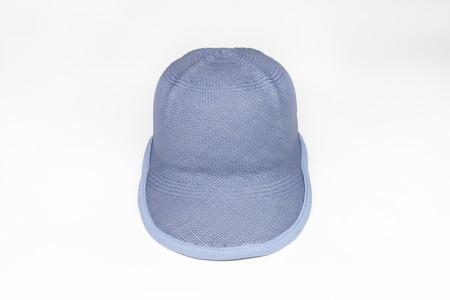 Clyde Safari 2 Baseball Hat in Light Blue Panama Straw