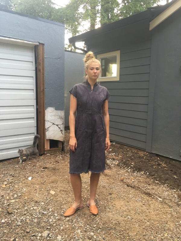 Alexa Stark  grey uniform dress