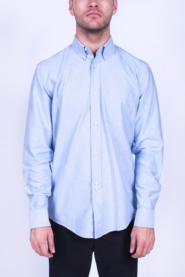 Men's Our Legacy 1940s Shirt Blue Oxford