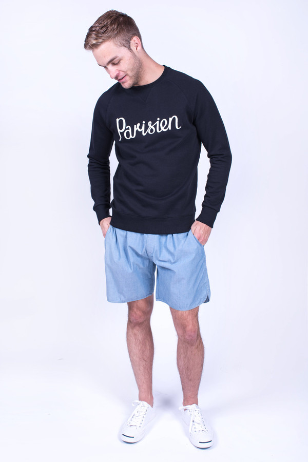Men's Maison Kitsune Parisien Sweatshirt Black