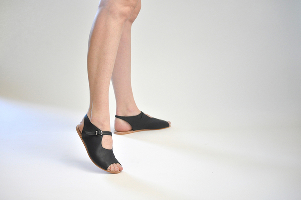 The Palatines Ratio sandal - Black Leather