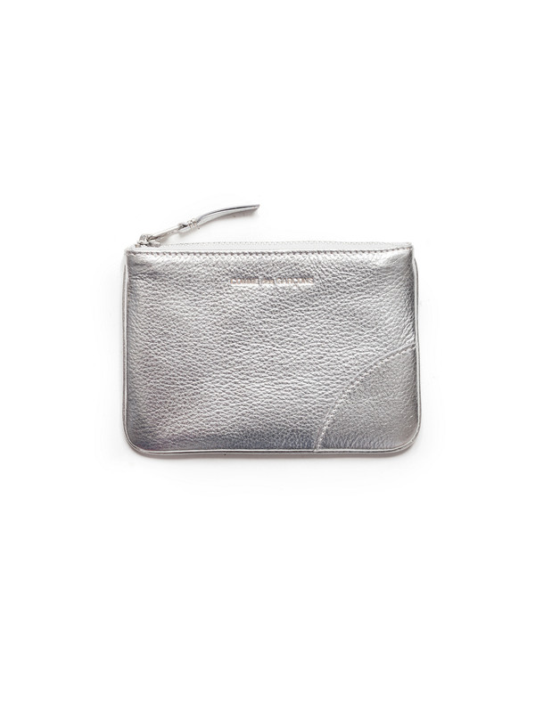 Comme des Garcons Classic Small Zip Wallet - Silver