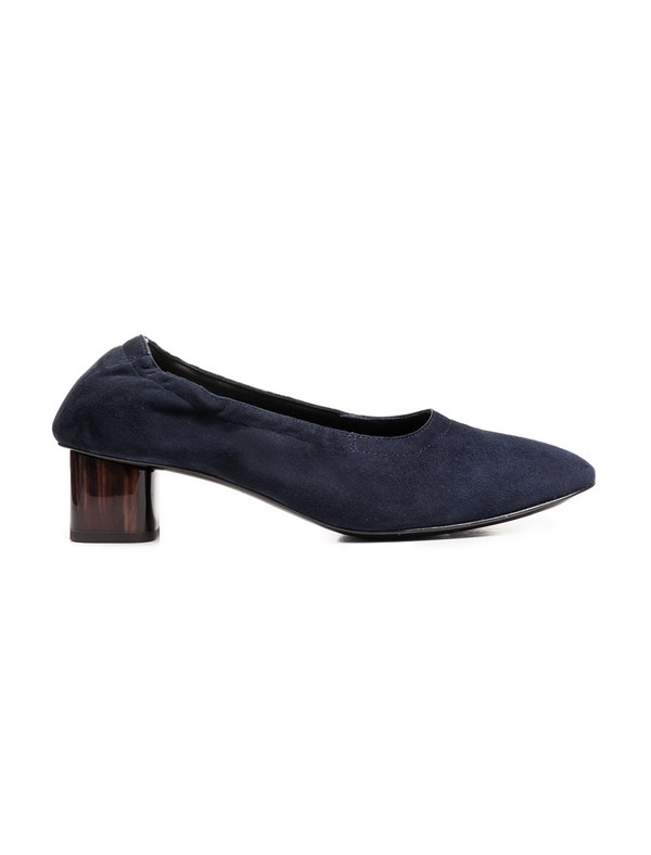 Robert Clergerie Womens Poket Glove Heel - Navy Suede