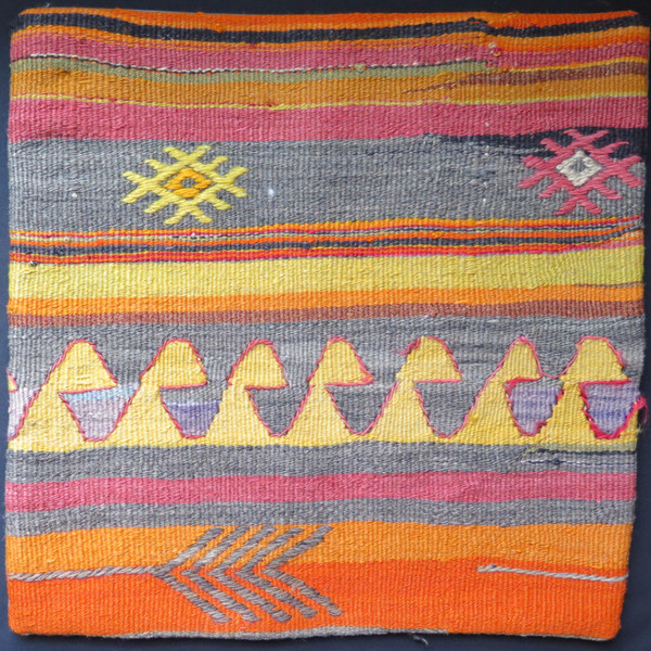 Kilim 16x16 Turkish pillow case 29