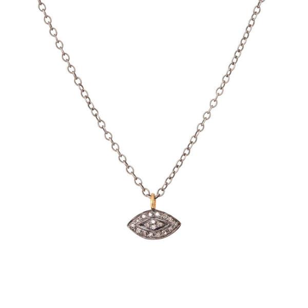 Emmy Trinh Jewelry Diamond Evil Eye Necklace