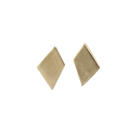 Emmy Trinh Jewelry Lovisa Diamond Earrings in Bronze