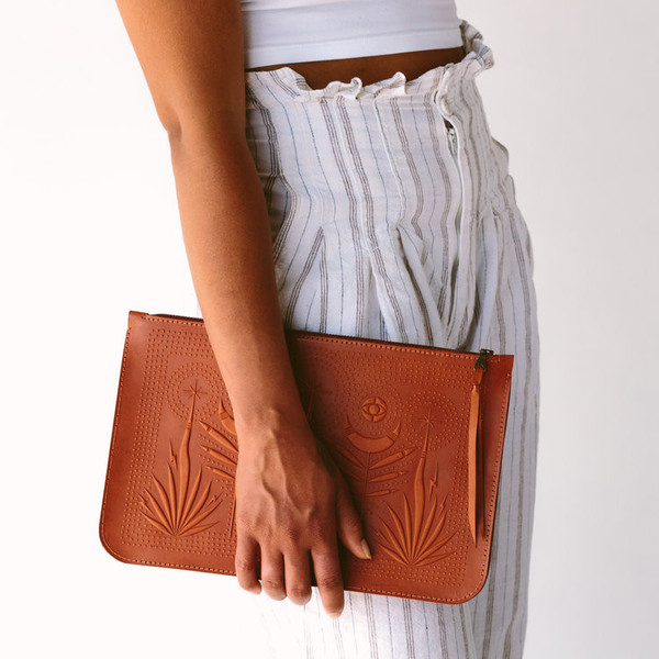 Night Safari Clutch- Chestnut