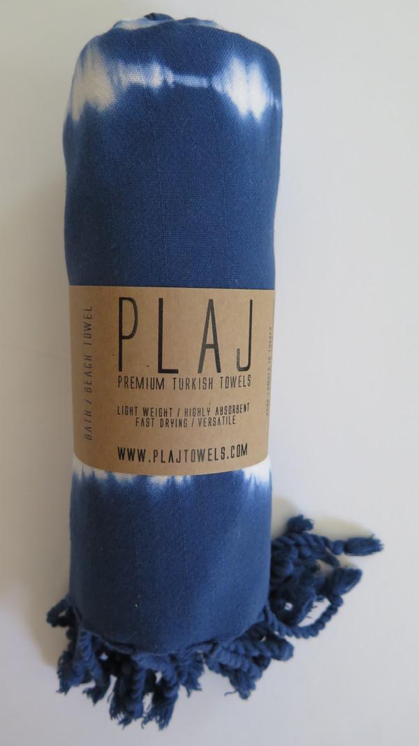 Plaj Pender Towel- Tye Dye Blue