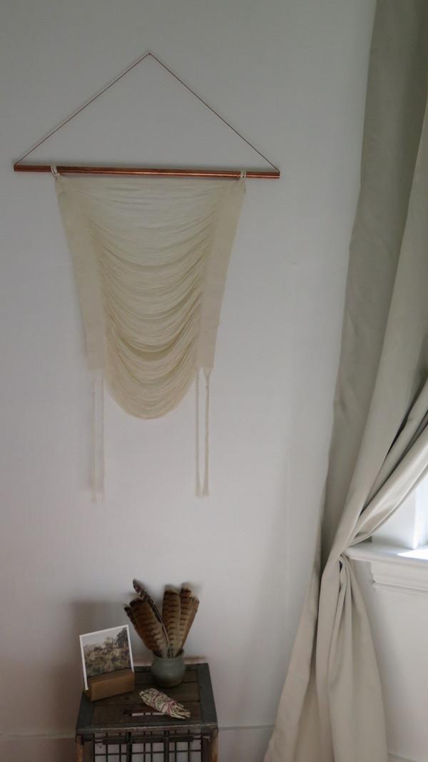 Britt Buntain Woven Wall Hanging - Lennon - Ivory