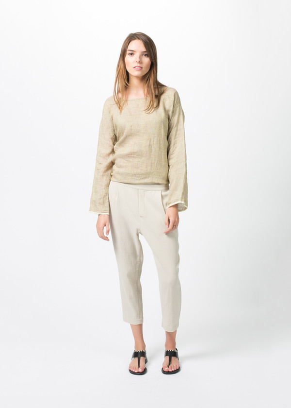 Evam Eva Double Cloth Tuck Pants