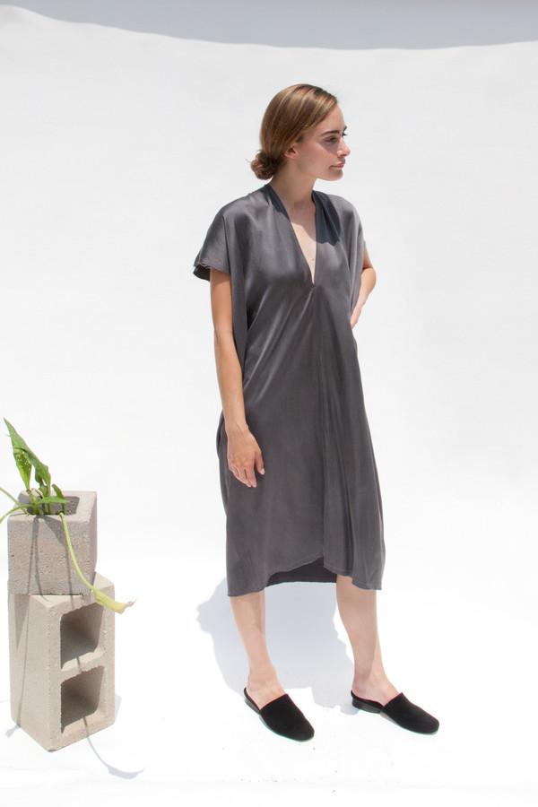 Miranda Bennett Everyday Dress, Silk Charmeuse in Slate