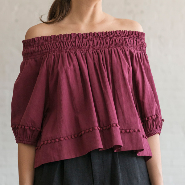 Apiece Apart Margarita Off the Shoulder Top