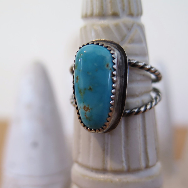 Gem spell Turquoise Dual Band Ring