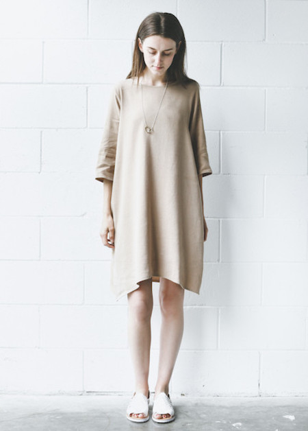 Zii Ropa Cienna Shift Dress - Tan