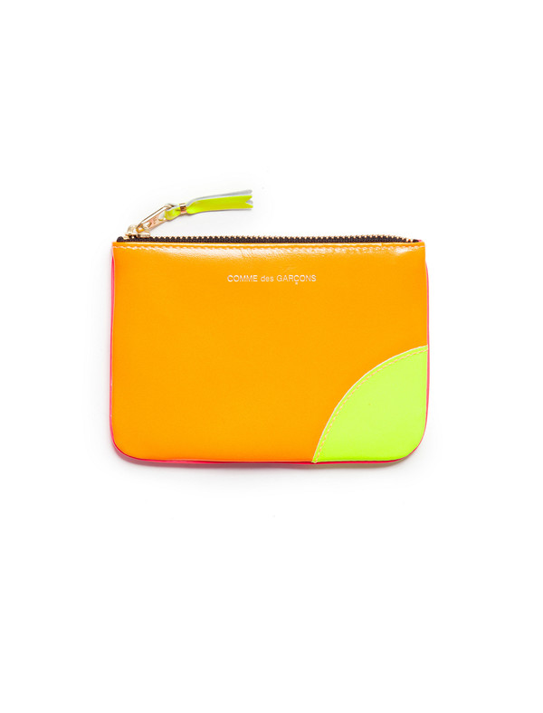 Comme des Garcons Super Fluo Classic Wallet - Orange/Pink