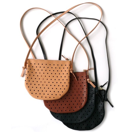 Pine and Boon Dot Punch Crossbody Bag