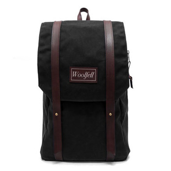 Woolfell Warrior Backpack Black and Brown