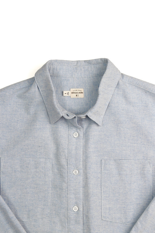 Bridge & Burn Lane Shirt in Light Blue Chambray