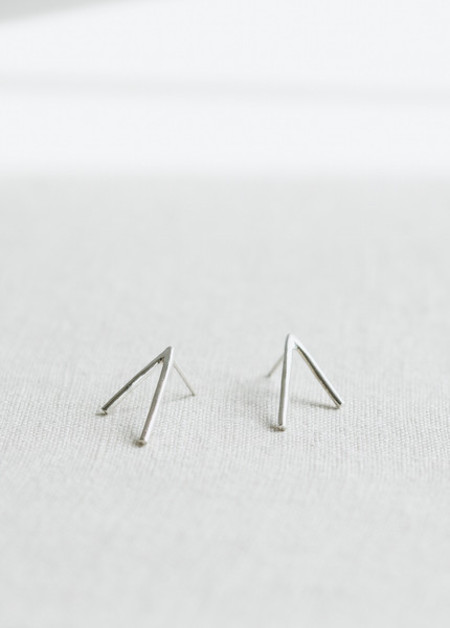 Another Feather Silver Dart Earrings