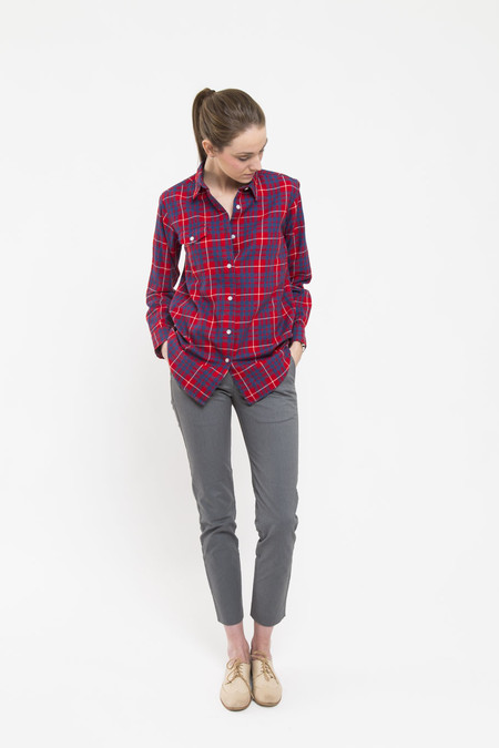 Bridge & Burn Bird Button-Down in Red Plaid