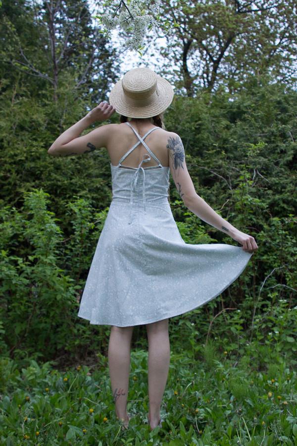 Heidi Martens Elsa Dress - Blue Lace Print