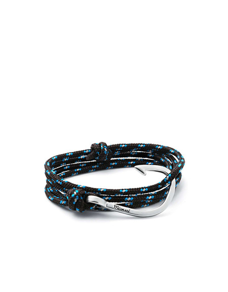 Miansai Hook on Rope Bracelet - Black blue