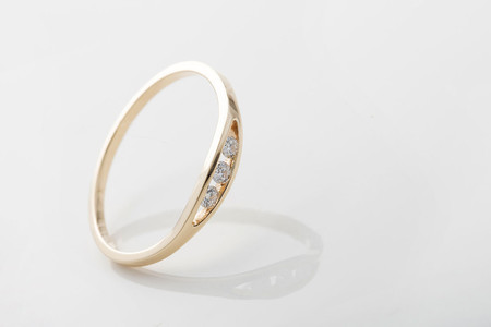 Jennie Kwon Designs White Diamond Float Ring