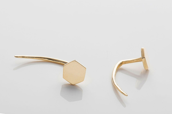 Gabriela Artigas Hexagon Infinite Tusk Earrings