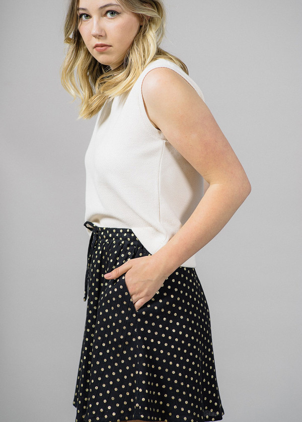 Storm & Marie Issy Skirt with Gold Dots