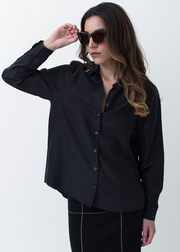 Whyred Karolina Washed Silk Shirt