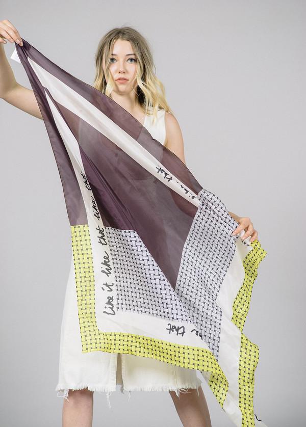Baum und Pferdgarten Lacey Printed Silk Scarf