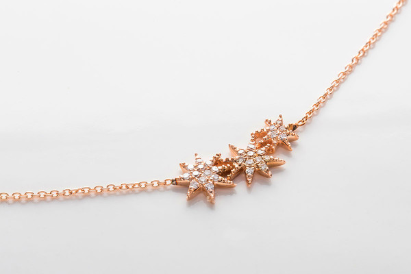 Gabriela Artigas Pave Triple Shooting Star Necklace