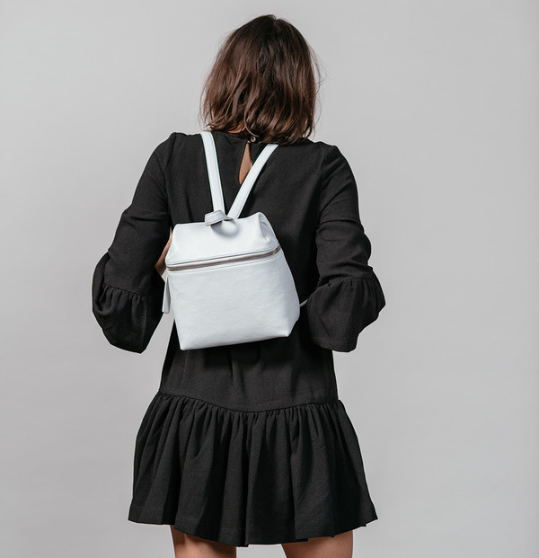 KARA Small Backpack in Pebble Leather