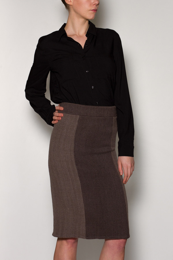 Voz Two Tone Skirt