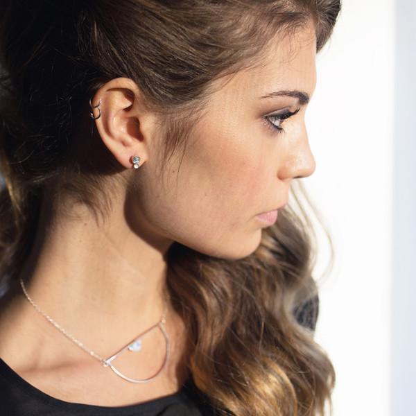 Hart + Stone Terra Minor Moonstone Earrings