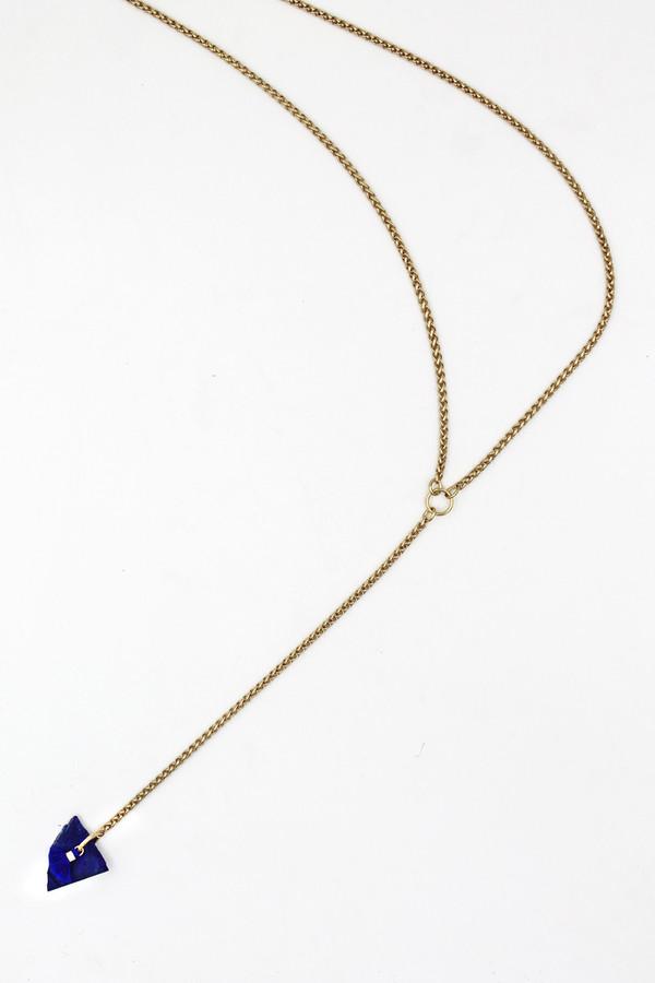 sheila b lapis tassel necklace