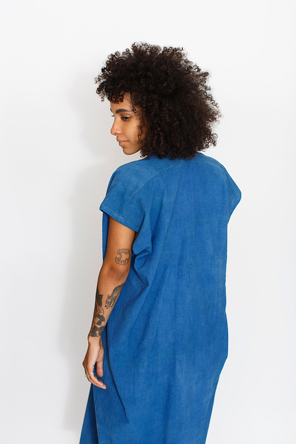Miranda Bennett Indigo Everyday Dress | Oversized Cotton
