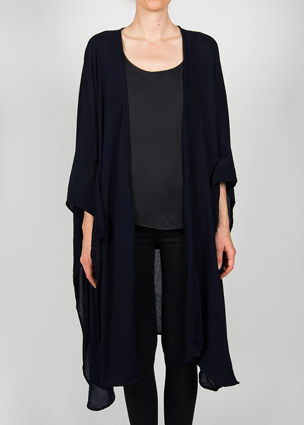 Black Crane - Poncho in Eggplant