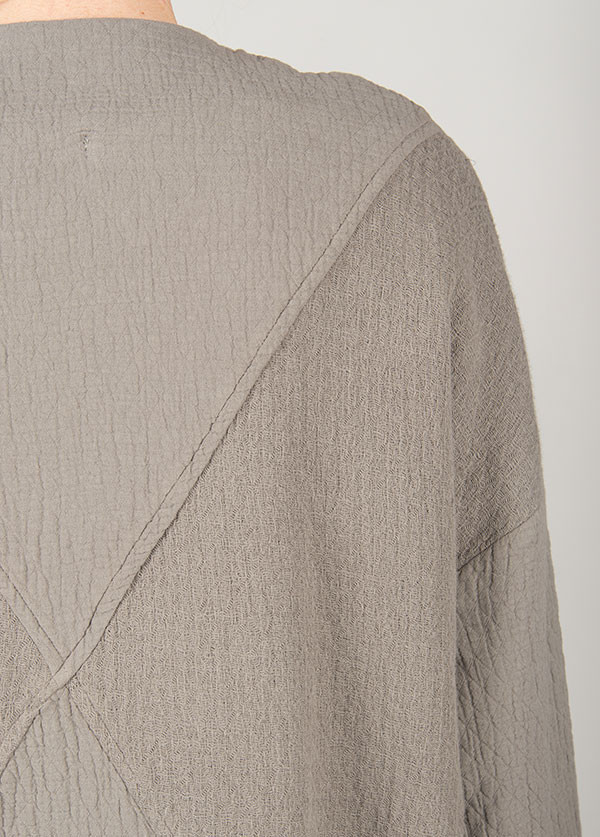 Black Crane - Quilt Coat in Grey