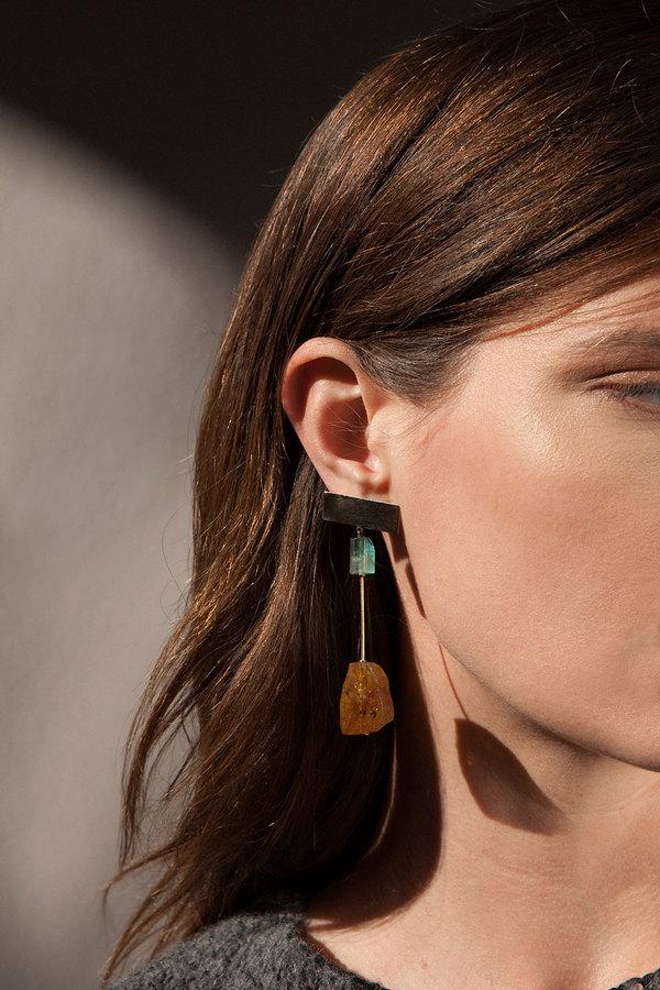 Kathleen Whitaker Double Tourmaline Earrings