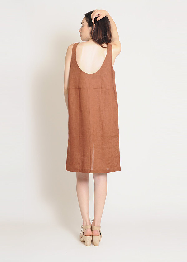 Are Studio Brick Linen Dip Dress
