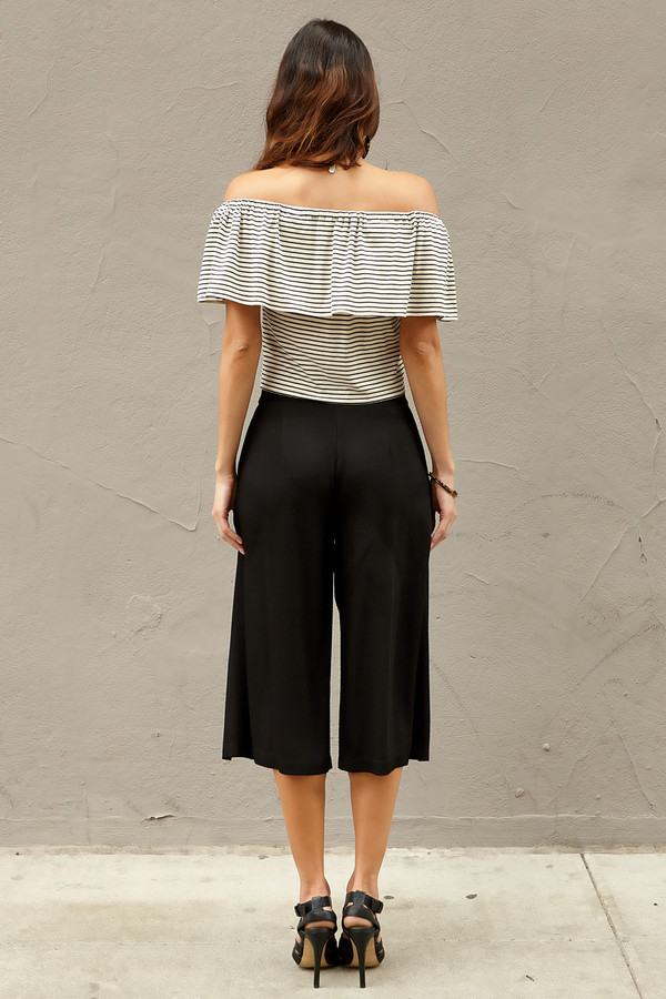 Otis & Maclain Rubia Off the Shoulder Stripe Top