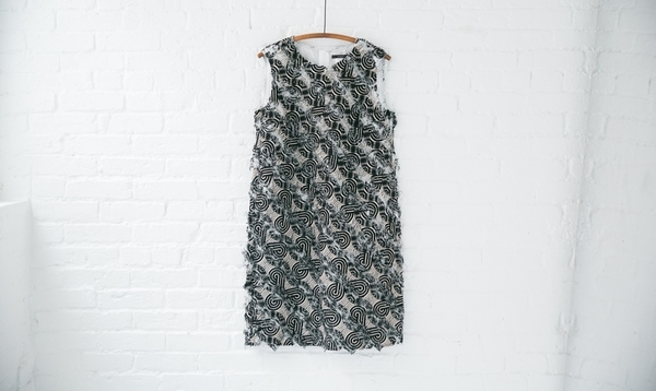 Odeeh Frayed Shift Dress