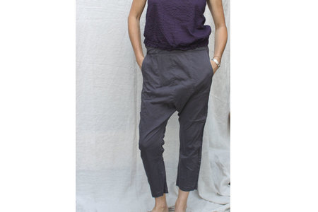 Pietsie Fez Pant in Gray Cotton