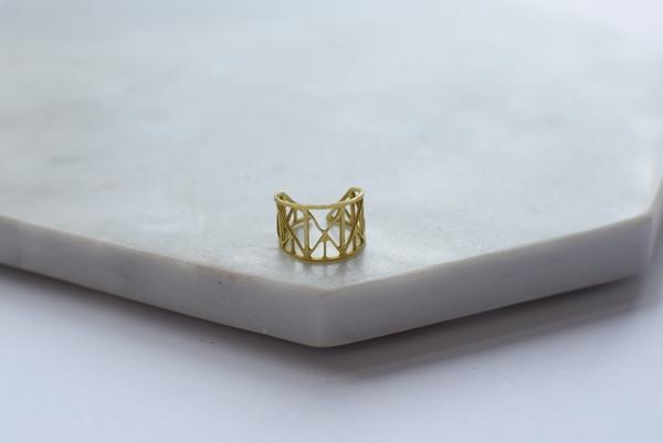 Maija Brianne Brass Ring 3