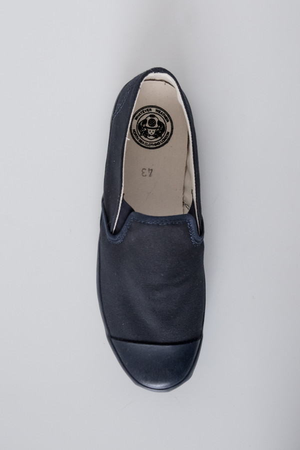 North Sea Clothing Canvas Slip-On Deck - Navy