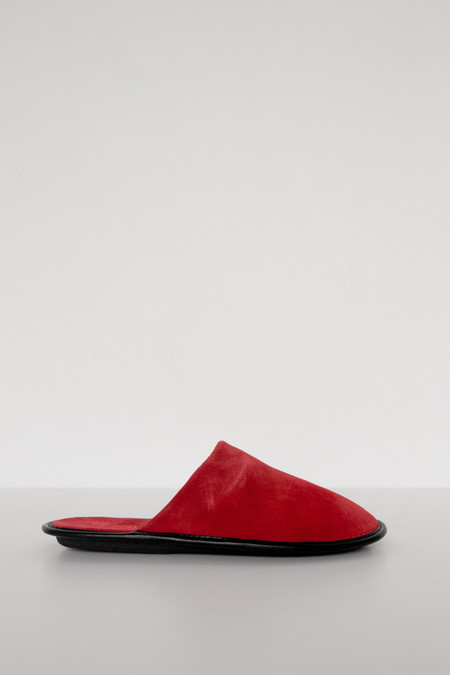 Lisa B. Women Suede Slipper - Red