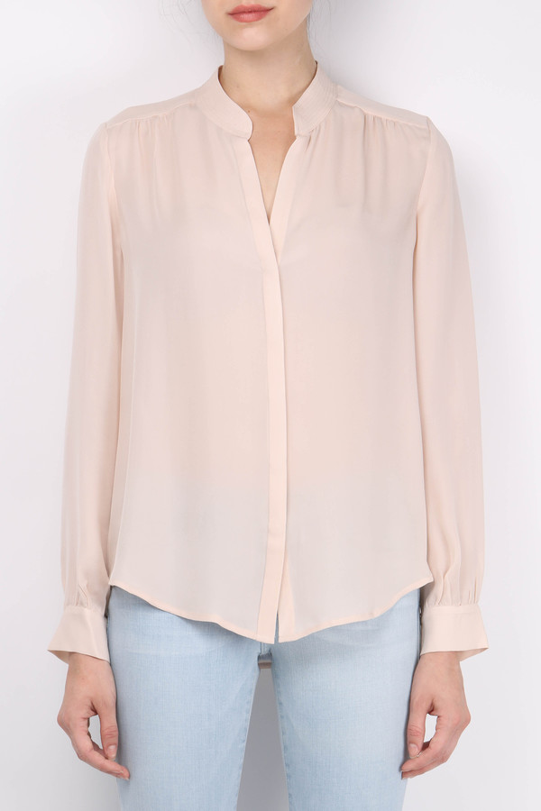 L'agence Bianca Band Collar Blouse