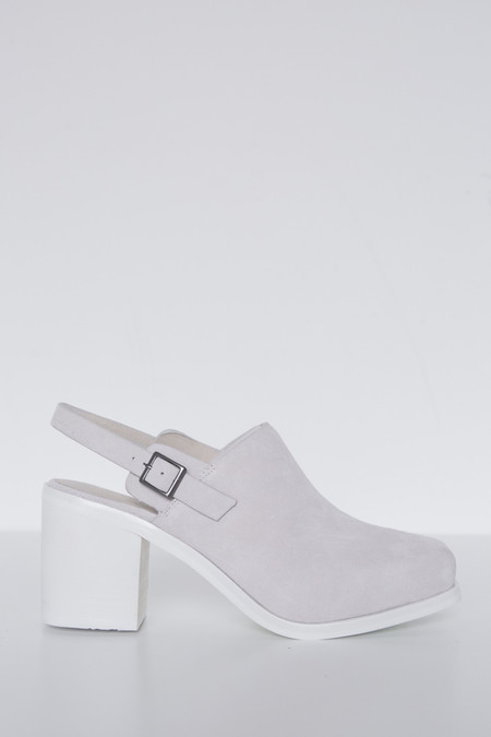 Intentionally Blank Suede Honcho Heel - White